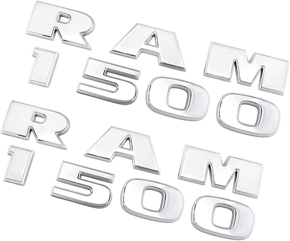 CARRUN Car Emblem For 2Pcs RAM 1500 Emblems Fender Rear Side Badge For Ram 1500 2013-2018 Accessories Chrome