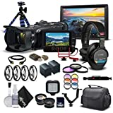 Canon VIXIA HF G40 Full HD Camcorder 1005C002 - Professional Bundle - With Monitor, Mic, 2 Extra Batteries, Pro Headphones, Case, Led Light, Filter Set, and Much More.