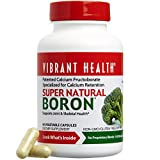 Vibrant Health - Super Natural Boron, Bone and Metabolism Support with Boron and Calcium, 60 Count