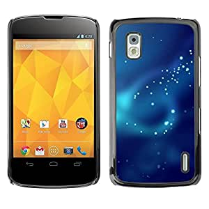 Be Good Phone Accessory // Dura Cáscara cubierta Protectora Caso Carcasa Funda de Protección para LG Google Nexus 4 E960 // Fog Pattern Ray Scatter Light Sea Diving