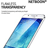 Netboon Full Screen Cover Tempered Glass Screen Protector For Samsung Galaxy A8 With 9H Hardness, Anti Glare - Transparent