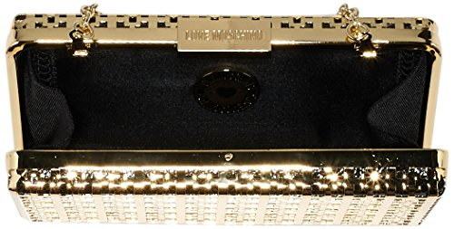 Love Moschino JC4104, Pochettes da Sera Donna, Multicolore (Gold/Black), 4x10x18 cm (B x H x T)