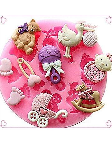 RENNICOCO Bebé Ducha Oso Silicona Pastel Caramelo moldes Torta cacerolas artesanales Bricolaje Chocolate Molde Hielo celosía