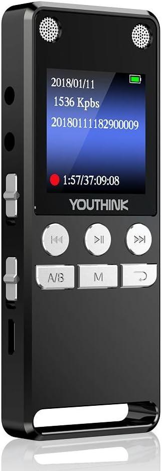 R09 1,5 Zoll Farbbildschirm 8G Recorder Stift eingebaute Lithiumbatterie Digitales Diktierger/ät schwarz