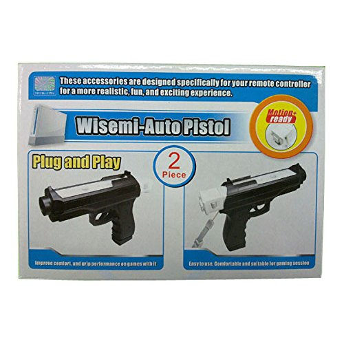 OSTENT Light Gun Pistol Shooting Sport Video Game Compatible for Nintendo Wii Remote Controller Pack of 2
