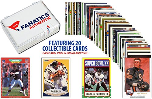 Jim McMahon-Chicago Bears- Collectible Lot of 20 NFL Trading Cards - Fanatics Authentic Certified - Football Player Sets (Jim Mcmahon Chicago Bears compare prices)