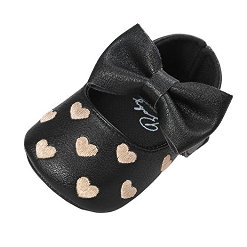 zapatos niña bebe, Switch Recién nacido Bebé ninas bowknot Prewalker Zapatos primeros pasos, princesa Zapatos verano oferta 2017 moda sandalias de niña fiesta Suela blanda Negro