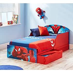 Cama infantil Spiderman Design con cajones 70 x 140: Amazon.es: Hogar