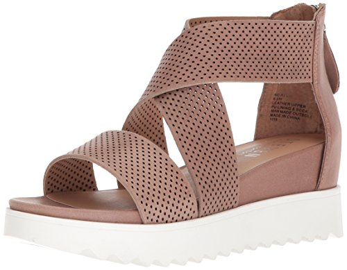 Shoes Wedge Leather Heels Tan (STEVEN by Steve Madden Women's NC-Klein Sandal, tan Leather, 7.5 M US)