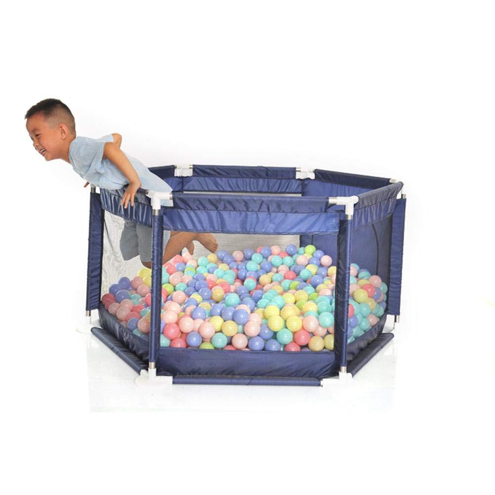 Cerca del juego del beb/é Valla de juegos para ni/ños del hex/ágono Juguetes seguros compactos y duraderos Piscina de bolas marina lavable Adecuado para beb/és beb/és a gatear con seguridad