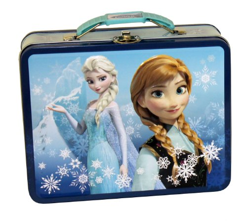 - The Tin Box Company 497607-12 Disney Frozen Tin Lunchbox- Blue