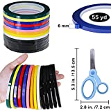 Supla 10 Colors 14 Rolls Whiteboard Art Tape