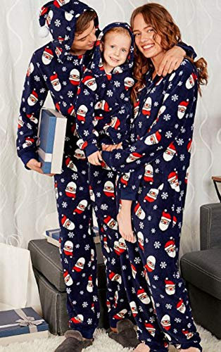 Family Christmas Onesie Pajamas.Family Matching Christmas Onesie Pajamas Set Unisex Onesies With Hoodie Covered In Santa Snowflakes Pattern Adult Xl
