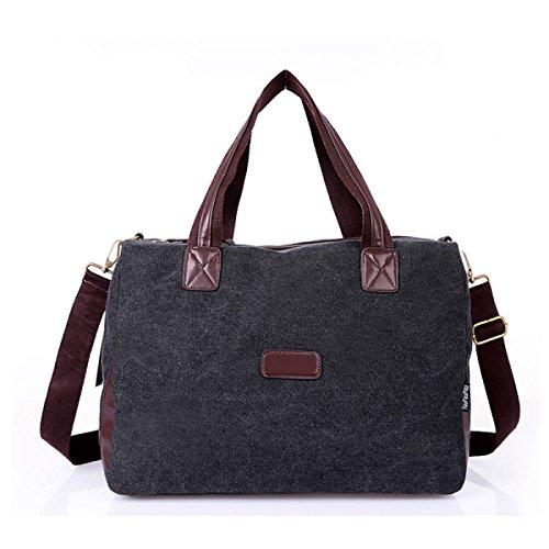 Frauen Jahrgang Leinwand Schulter Aktentasche Messenger Handtasche Arbeiten Die Universelle Einsatz Tasche ,C-OneSize