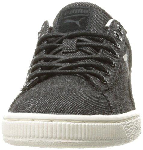 Cestino classico denim moda Sneaker, Puma Black-Whisper W, 9 M Stati Uniti
