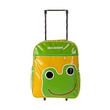 Maleta para niños Bolso de escuela de dibujos animados Maleta de ocio Mochila trolley Adecuado para niños y niñas en los grados 2-6,Frog: Amazon.es: ...