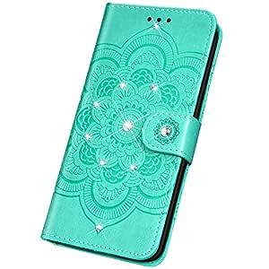 Surakey - Funda de piel con tapa para Huawei Honor 20 Pro, Verde ...