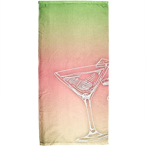 (Old Glory Martini All Over Beach Towel)