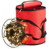 Zober Christmas Light Storage Bag - With 3 Metal Reels TO Store Up To 600 Average sized Christmas Lights bulbs ,Premium 600D Oxford, For Reinforced Stitched Handles - 5 Year Warranty