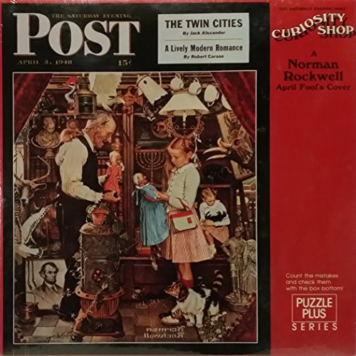 (Springbok 500 Piece Puzzle -A Norman Rockwell April Fool's Cover - The Saturday Evening Post Curiosity Shop with 55 Mistakes You Need to)