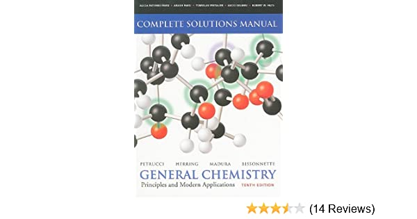 petrucci general chemistry 10th edition solution manual