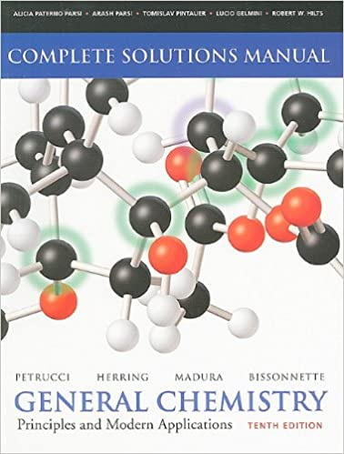 Solutions Manual For General Chemistry Principles And