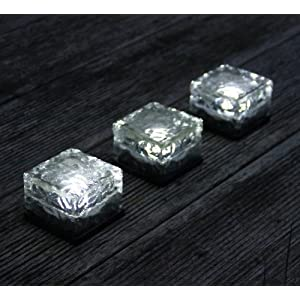 Frostfire Solar Ice Rocks - Path and garden solar lights (Set of 3)