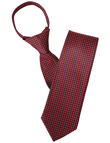 Tie Red Patterned (H2H Mens Comfortable Zipper Circle Patterned Neck Tie RED US ONESIZE/Asia ONESIZE (KMANT0113))