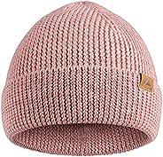 DANISH ENDURANCE Classic Merino Wool Beanie for Men & Women, Soft Unisex Cuffed Plain Knit Hat with Recycl