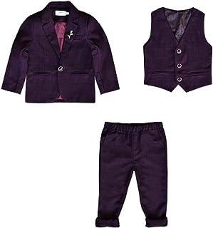KINDOYO Abiti da Ragazzo - Bambini Bambino Eleganti 3 Pezzi Abito Set Completo Blazer + Pantaloni + Gilet