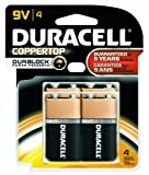 Duracell MN16B4DW CopperTop Alkaline-Manganese Dioxide Battery Doublewide Value Pack, 9V (Case of 12 Cards, 4 Unit per Card)