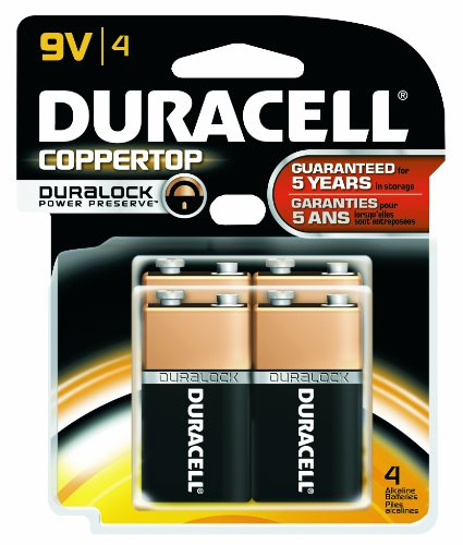 Duracell MN16B4DW CopperTop Alkaline-Manganese Dioxide Battery Doublewide Value Pack, 9V (Case of 12 Cards, 4 Unit per Card) by Duracell