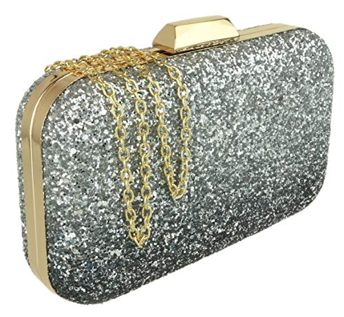 Clutch Glitter HandBags Blue Gradient Girly Bag qZwpPBt