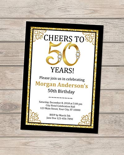 Amazon 50th Birthday Invitation Any Age