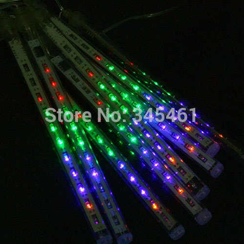GSN 80pcs/lot 50cm Meteor Shower Rain Tube LED Light EU Plug For Party Wedding Halloween Chrismas Tree Lights Garden Decoration Lamp -