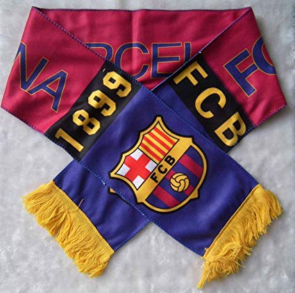 FC BARCELONA BADGE LOGO FOOTBALL SOCCER SCARF ()