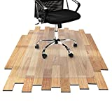 Desk Chair Mat for Hardwood Floor - Hard Floor Protection Mat for Office & Home   Many Sizes Available   Clear - 48'' x 80''