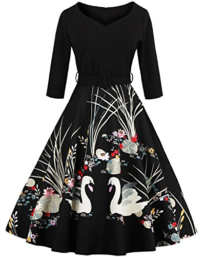 Buy black 1950s prom dress - 6