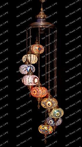 Mosaic Chandelier, Filigree Copper Mosaic,Mosaic Lamp,Turkish Lamp,Moroccan Lantern