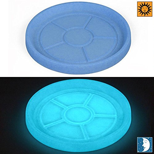 Design Toscano Glow in the Dark - Blue 14.5 inch Round Mare Plant Saucer - Revolutionary Garden Decorations - Fits CF2641, CF3221 and CF4141