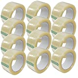 Clear Packing Tape 2'' x 110 Yards Strong Heavy Duty Sealing Adhesive Tapes for Moving Packaging Shipping Office and Storage 12 Rolls