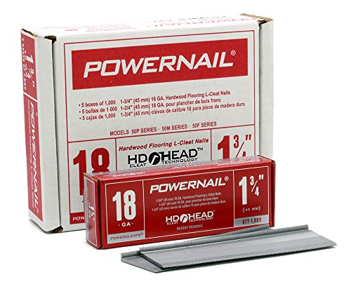 "Powernail 18ga 1-3/4"" HD L Cleat Flooring Nail (1 Case for sale  Delivered anywhere in USA"