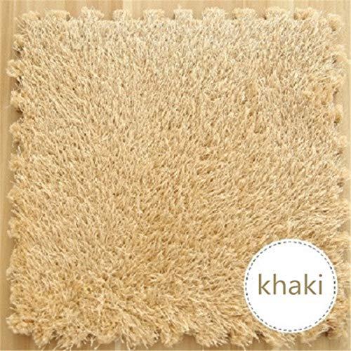 Pack of 4 EVA Foam DIY Puzzle Mat Long Hair Villi Shaggy Carpet Jigsaw Mat Plush Warm Soft Area Rug Children Baby Playmats (Rug Jigsaw)