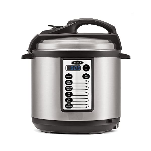 BELLA 10-In-1 Multi-Use Programmable Pressure Cooker, Slow Cooker, Rice Cooker, Steamer, Sauté Warmer with Searing and… 1