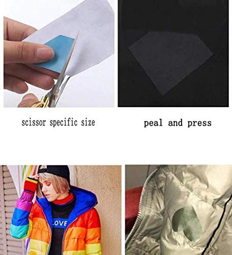 Sleeping Bag Tent Clothes Azobur Nylon Repair Patches 2.4X60 inch Nylon Self Adhesive Waterproof First Aid Repair Tenacious Lightweight Protable Fabric for Down Jacket Clear, 2.4X60