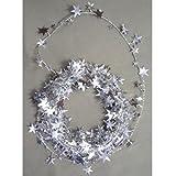 Star Wire Garland Silver - 18' Metallic (1 per package)