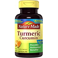 Nature Made Turmeric Curcumin 500 mg. Capsules (Antioxidant) Value Size 120 Ct