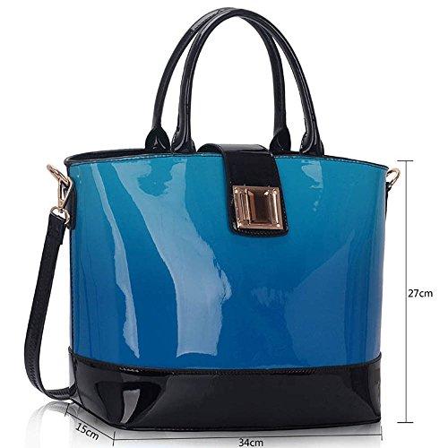 Quality Bags Celebrity Fashion Leather Handbag Blue Women's Bag Faux Ladies Quality CWS00329 Tote Designer Style Px7Rwn