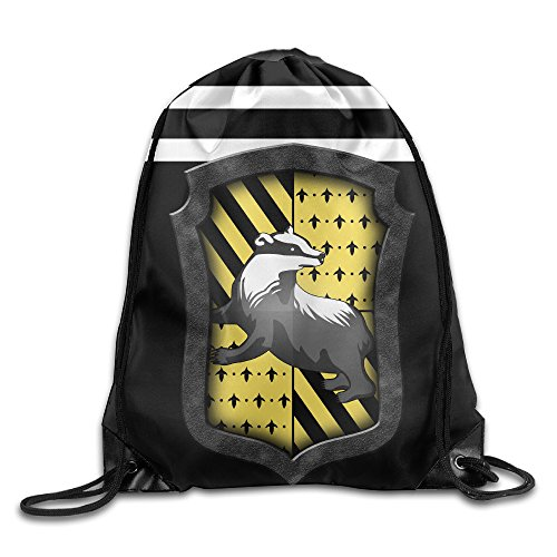 AYASHOP Harry Potter Hufflepuff Crest Drawstring Backpack Sack Bag/Travel Bag