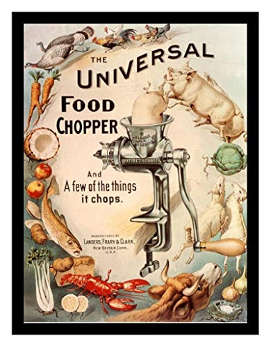 8 x 10 Framed Print Universal Food Chopper Advertising Vintage Old Advertising Campaign Ads